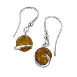 Amber Earring: Swirl