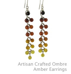 Amber Earrings : Artisan Crafted Ombre