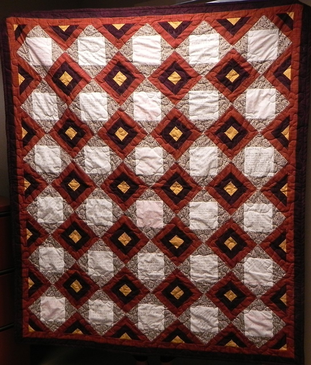 Wedding Quilt with Signatures