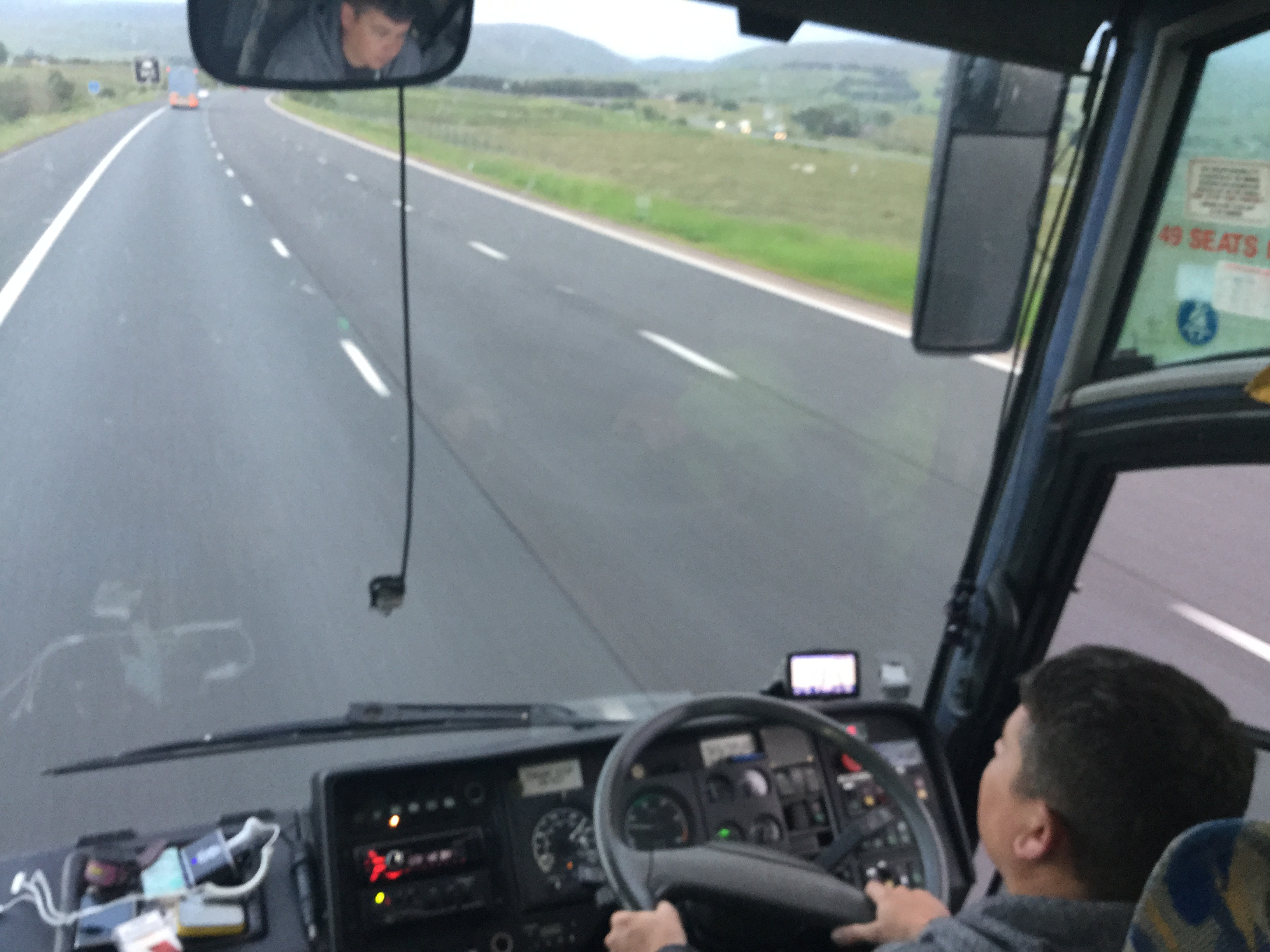 coach heading into scotland