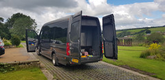 Minibus hire with luggage