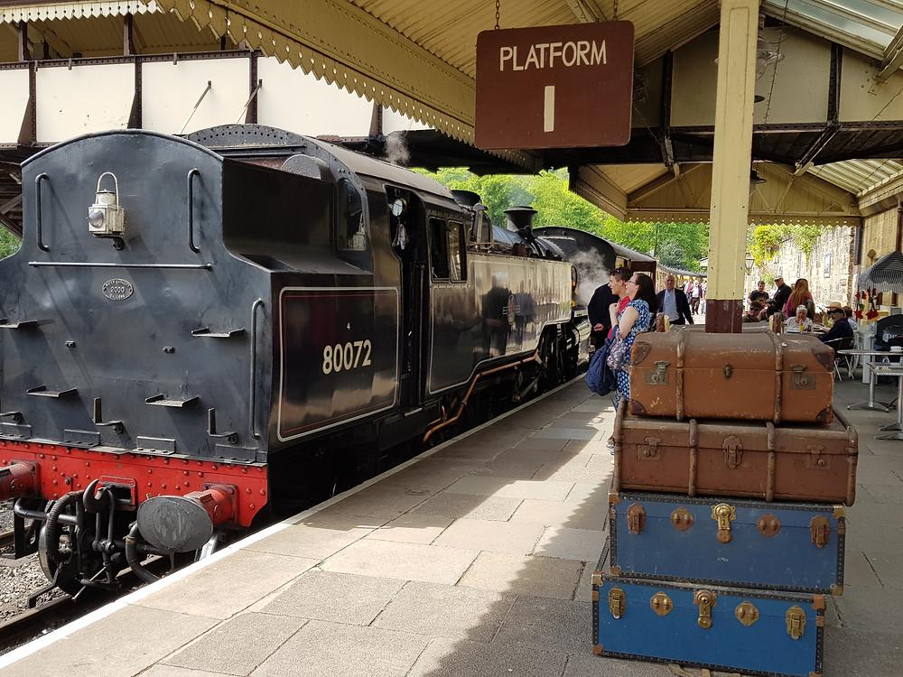 steam train 80072 at llangollen