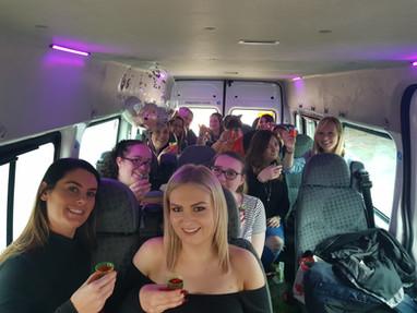 2. hen party minibus hire