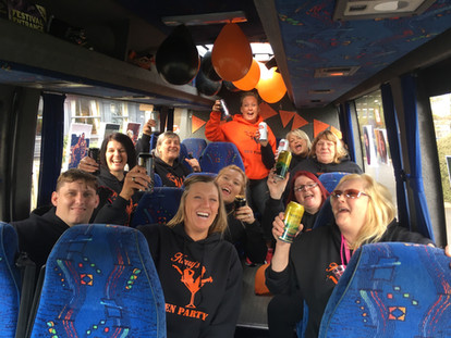 5. Hen Party Minibus from Dudley to Manchester