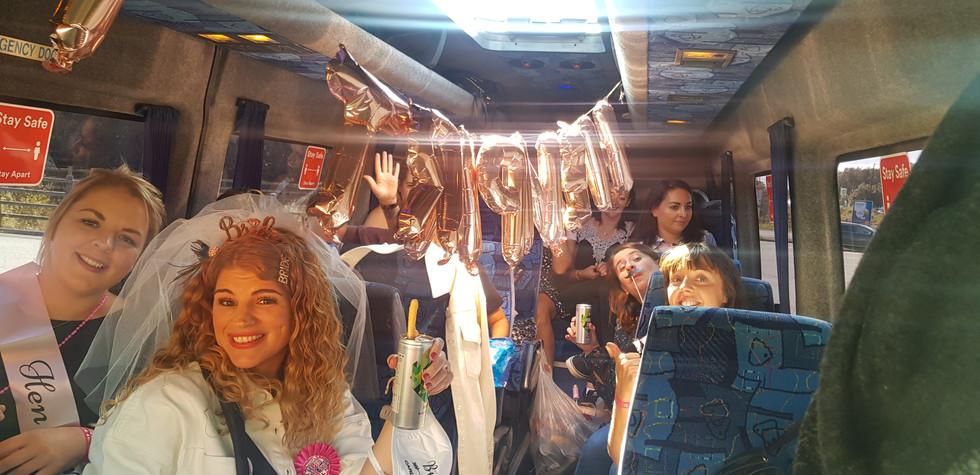 10. Hen Party Minibus Hire