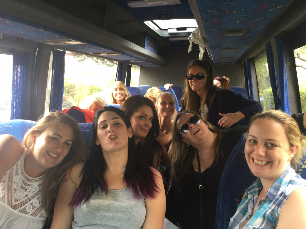 9. minibus trip to weston super mare
