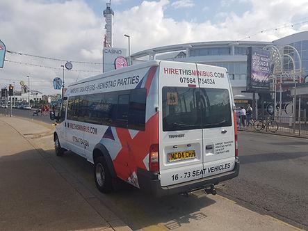 16 seat minibus hire blackpool