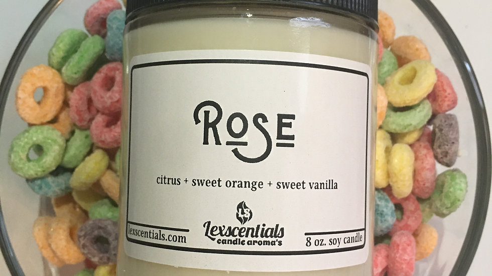 Rose (small) candle