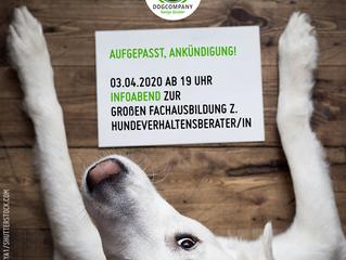 Ankündigung: Infoabend zur Fachausbildung z. Hundeverhaltensverhaltensberater/in