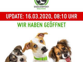 Update: 16.03.2020, 08:10 Uhr - wir haben geöffnet