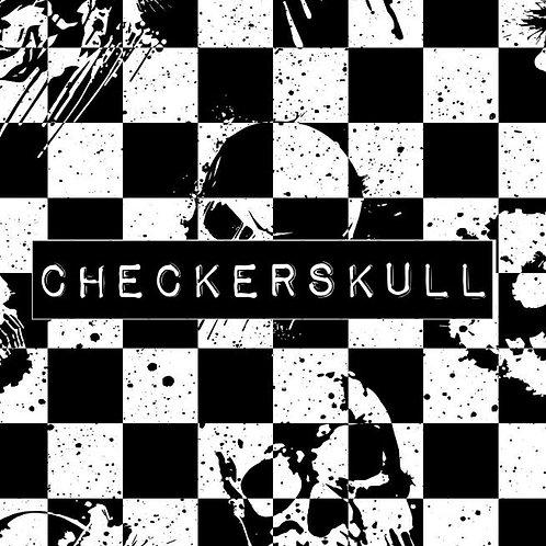 CHECKERSKULL HAREM SHORTS