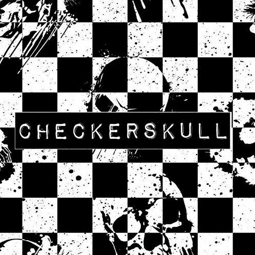 CHECKERSKULL CYCLE SHORTS