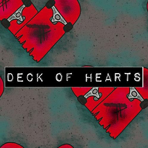 DECK OF HEARTS HAREM SHORTS