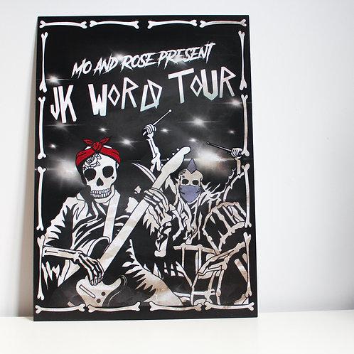 WORLD TOUR POSTER PRINT A3