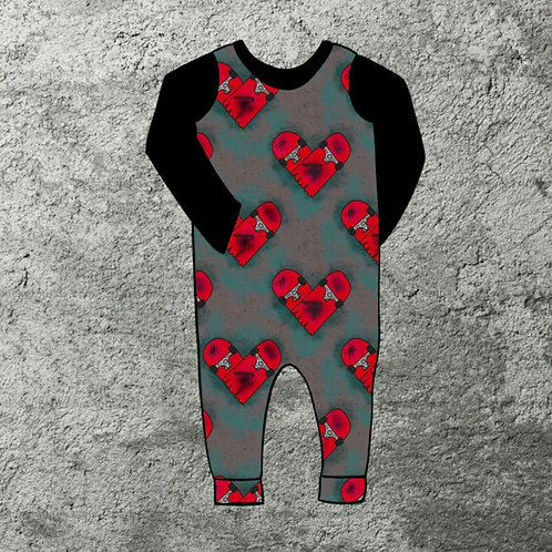 DECK OF HEARTS PULL ON ROMPER