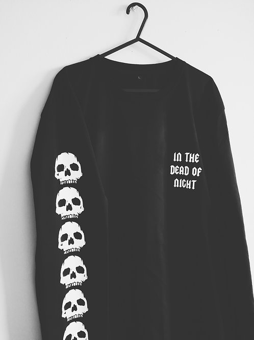 ADULT IN THE DEAD OF NIGHT LONG SLEEVE TSHIRT