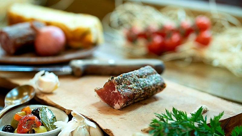 Pork tenderloin cured with herbs