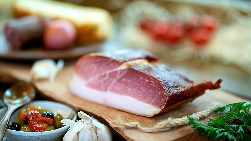 Pork Parma style cold smoked