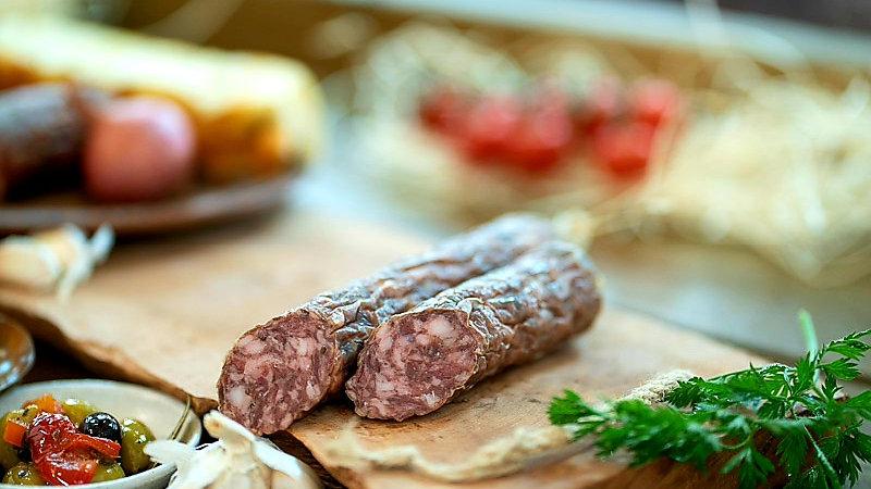 Pork and garlic salami
