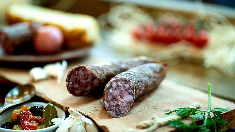 Pork and Beef sausage dried (Kaimiska)