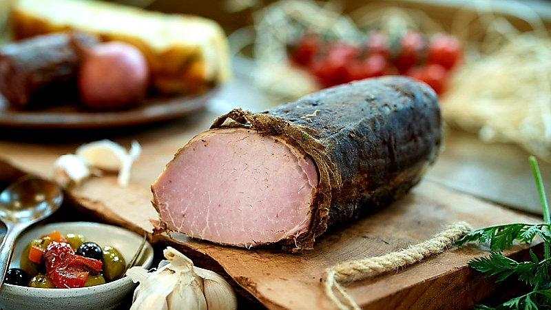 Pork loin hot smoked