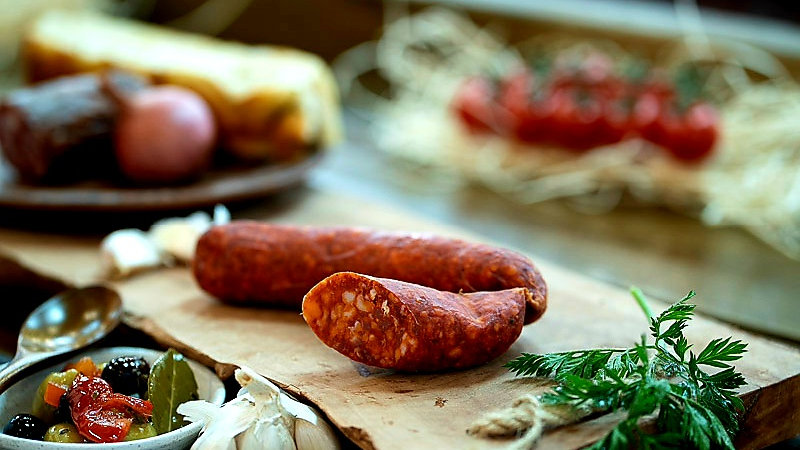 Hungarian smoked paprika sausage