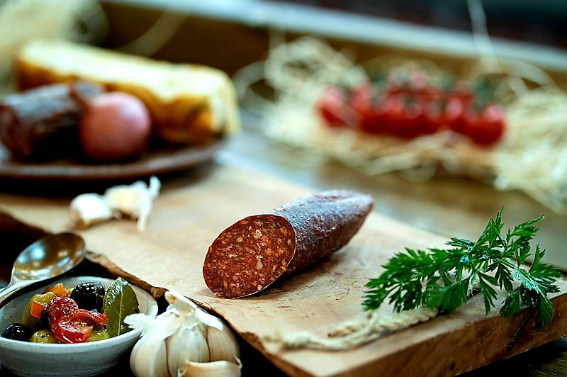 Hungarian Mangalica salami with smoked paprika