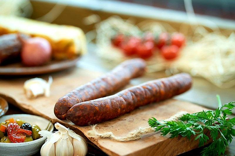 Venison and Hungarian smoked paprika sausage dried