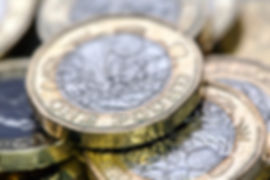 British Pound Coins at Norton shop post office