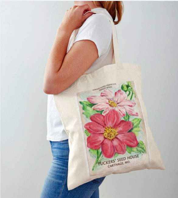 Dahlia Seed Pack Tote