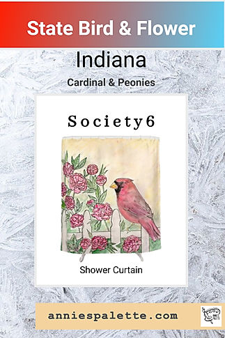 Pin for Society6 Indiana shower curtain.