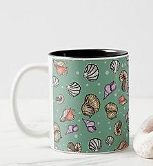 Seashell Pattern on a mug
