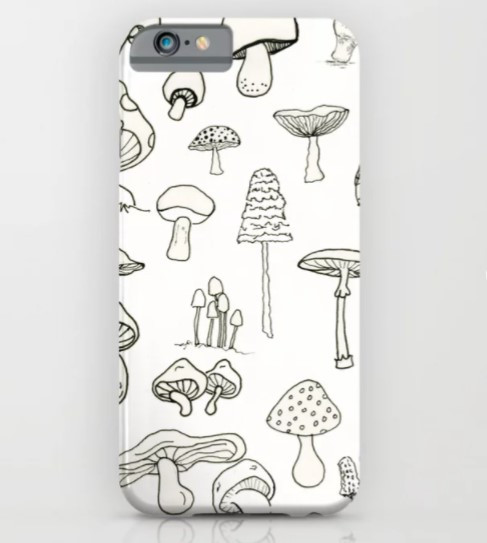 phonecase tech society6 product mushrooms