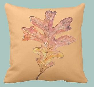leaf pillow zazzlejpg
