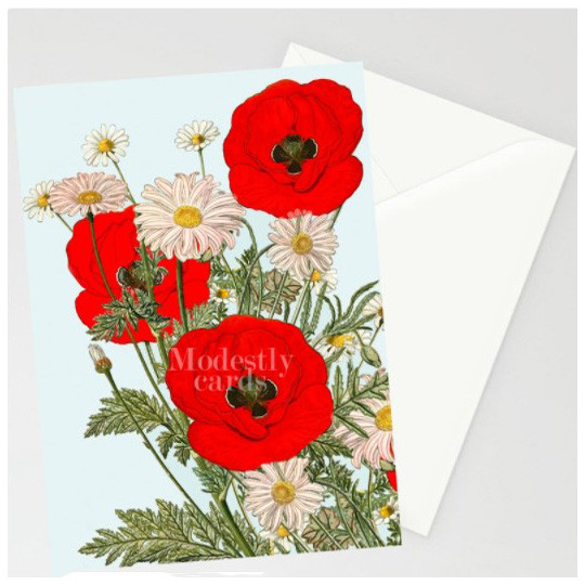 greeting card from modestly etsu