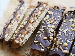 Barres snickers saines VG - Sans gluten - Paléo