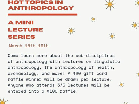 """""""Hot Topics in Anthropology """" A Week in Anthropology at UTM"""