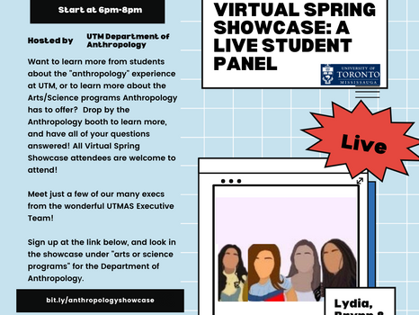 Virtual Spring Showcase: A Student Panel With UTMAS