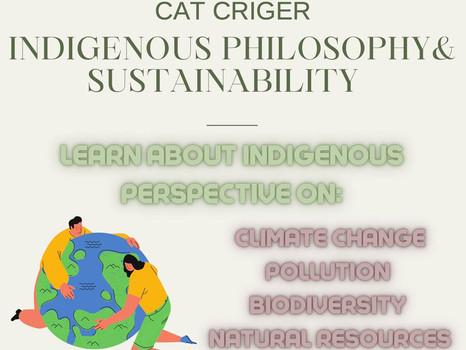 Sustainability Talk  with Elder Cat Criger