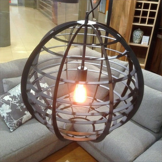 Lamp Pluto rond industrieel