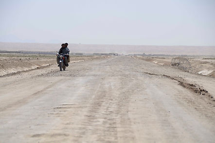 Road and motorcycle in Afghanistan