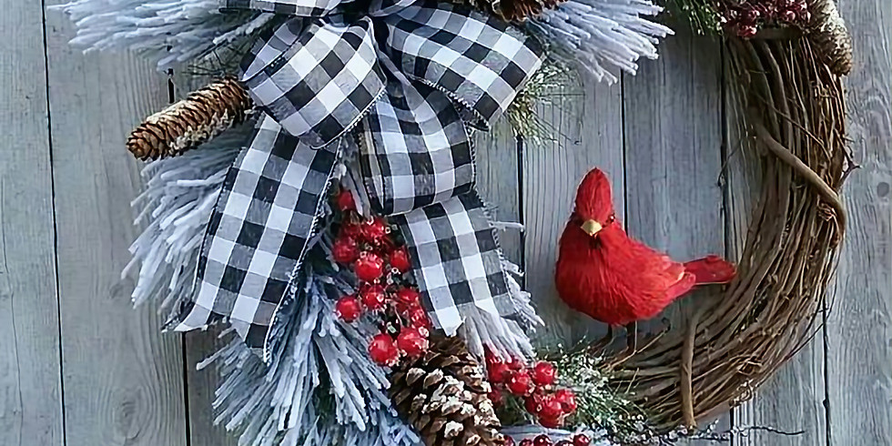 Winter Wreath Making Winter Cardinal