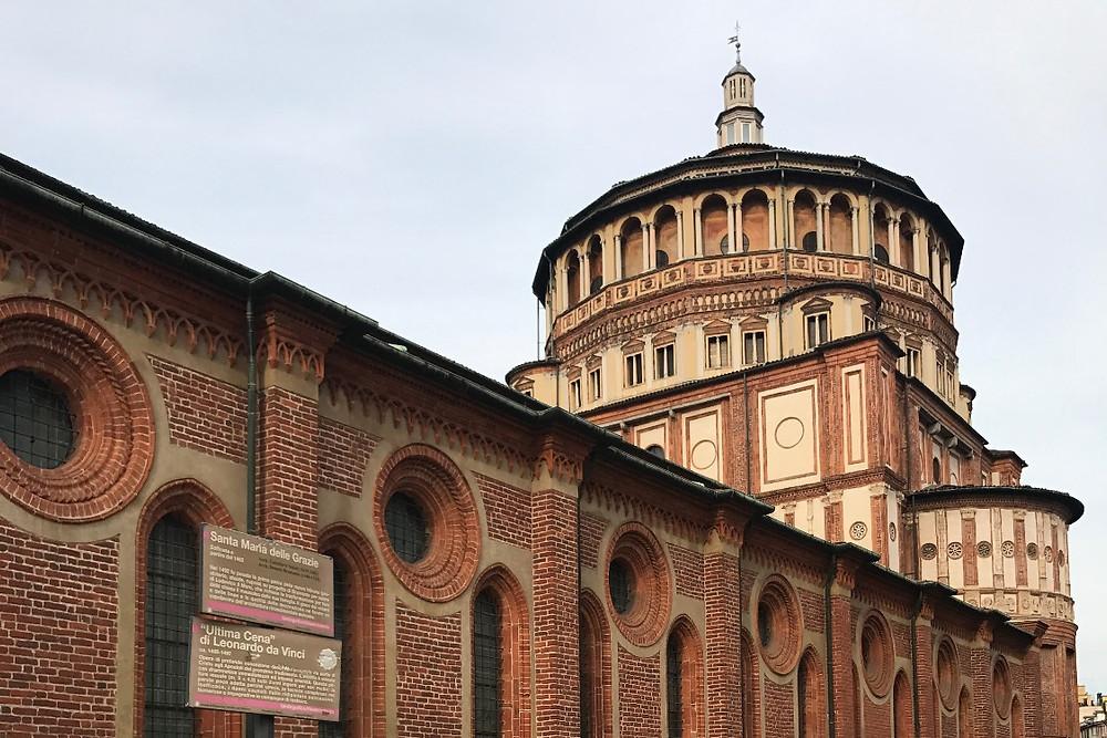 サンタ・マリア・デッレ・グラッツィエ教会 Guida del Cenacolo Vinciano 『最後の晩餐』の観光案内