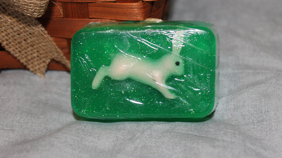 Square Soap with Rabbit Inside