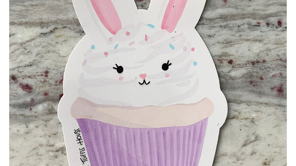 Bunny Cupcake Sticker