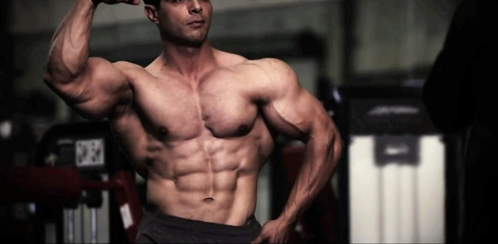Bodybuilding with steroid use.