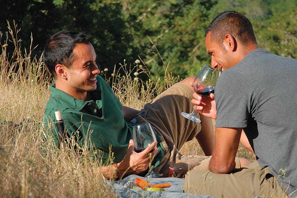 Sonoma County wine tasting.