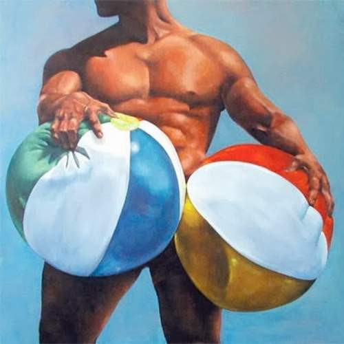 Testicular Cancer Awareness month beach balls