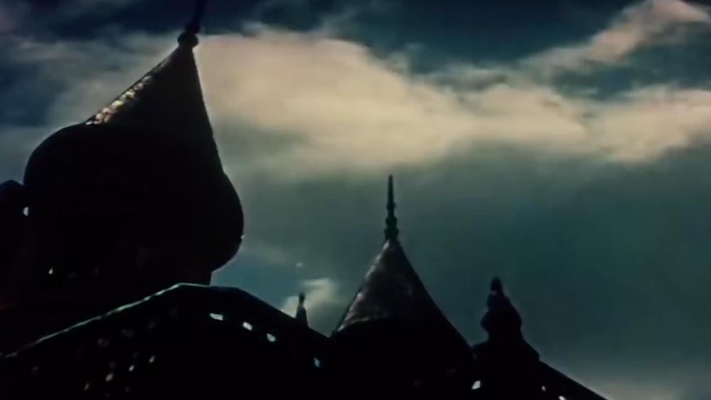 Shadowlands series - church spires from film The Terror 1963