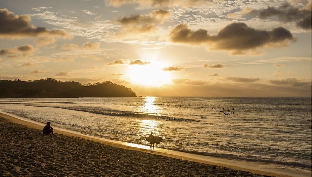 Sunset at the beach in Sayulita Riviera Nayarit